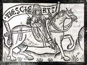 Chaucer clerk wood engraving